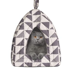 Foldable and comfortable tent for cats and dogs